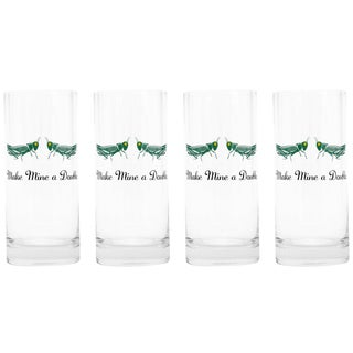 """Make Mine a Double"" Highball Glasses - Set of 8"