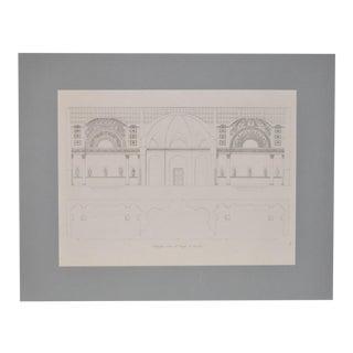 "19th Century Architectural Engraving ""Public Bathhouse"""