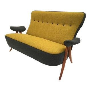 Stunning Theo Ruth Model 105 'Hair Pin' Sofa for Artifort with Kvadrat Wool