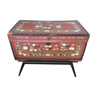 Painted Asian Trunk Stand