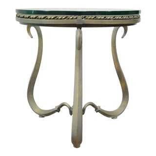 Contemporary Iron & Glass Occasional Table