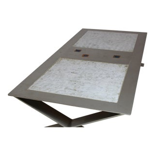 Stainless Steel and Ceramic Table