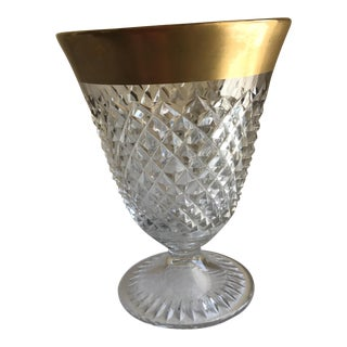 Cut Glass Gold Rimmed Vase