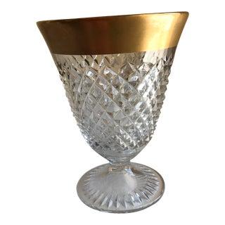 Cut Glass Gold Rimmed Vase