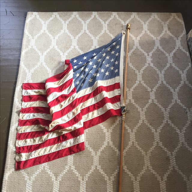 Vintage Weathered American Flag - Image 2 of 7