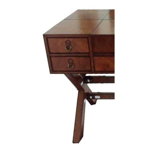 Image of Leather Writing Desk With Drawers