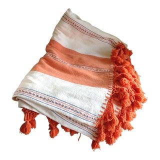 Vintage Boho Cotton Embroidered Throw