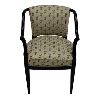 Echino Fabric Upholstered Mid-Century Modern Desk Chair