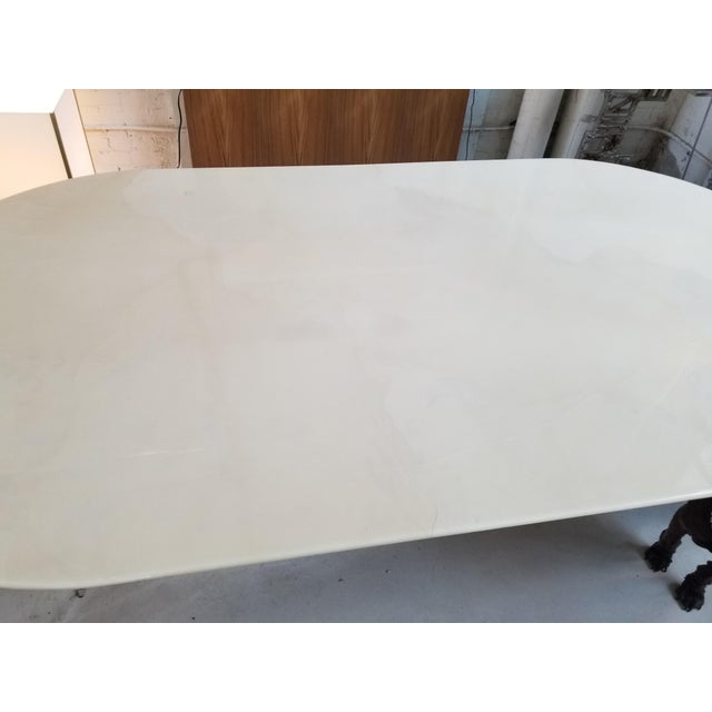 """Knife Edge Dining Table"" in Lacquered Goatskin by Karl Springer - Image 4 of 5"
