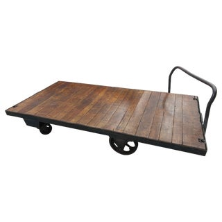 Nutting Rail Cart Coffee Table