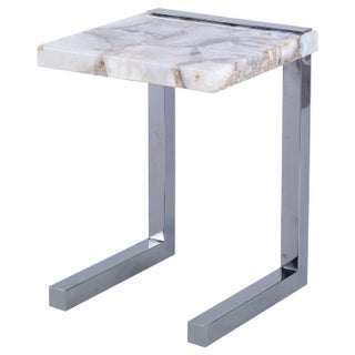Kravet Chrome & Quartz Composite Task Table