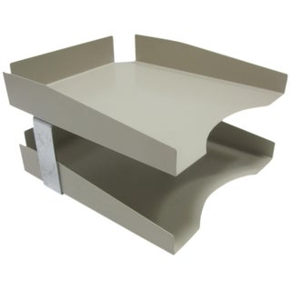 Modernist Mad Men Metal Desk Tray