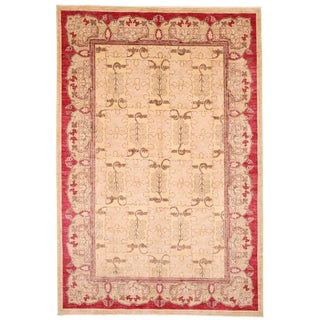 New Arts & Crafts Hand Knotted Area Rug - 6' x 8'9""