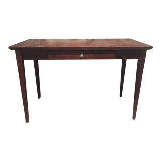 Wooden Medium-Sized Desk with Drawer