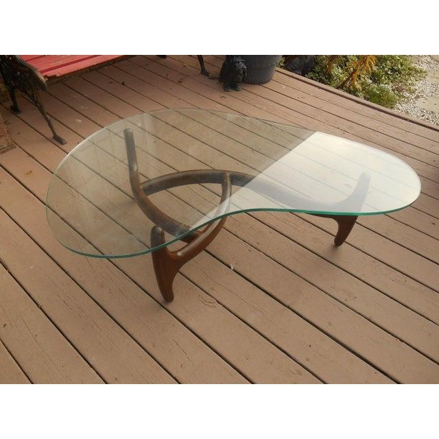 Adrian Pearsall Walnut Kidney Shape Coffee Table Image 2 Of 6