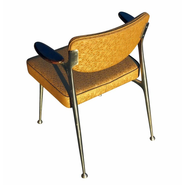 Aluminum Gazelle Armchairs by Shelby Williams -S/4 - Image 7 of 10