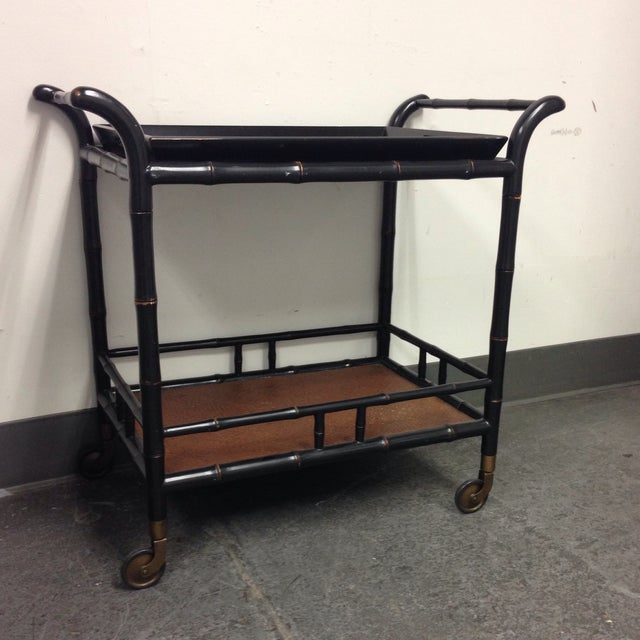 Hand Crafted Tea Cart from the Philippines - Image 3 of 9
