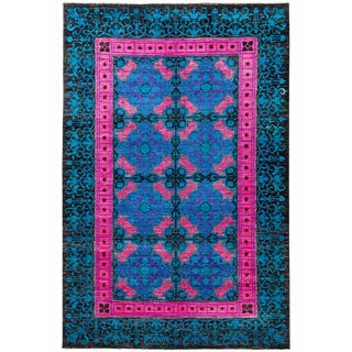 "Suzani Hand Knotted Area Rug - 6'3"" X 9'5"""
