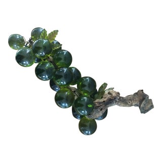 Vintage Lucite Green Grapes