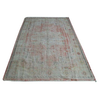 Antique Oushak Area Rug - 6′1″ × 9′8″