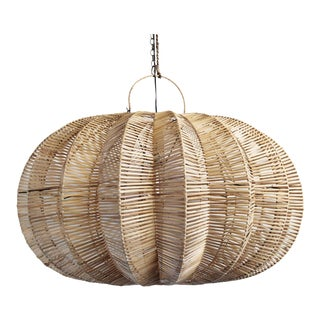 Split Raw Rattan Pumpkin Lantern 40""