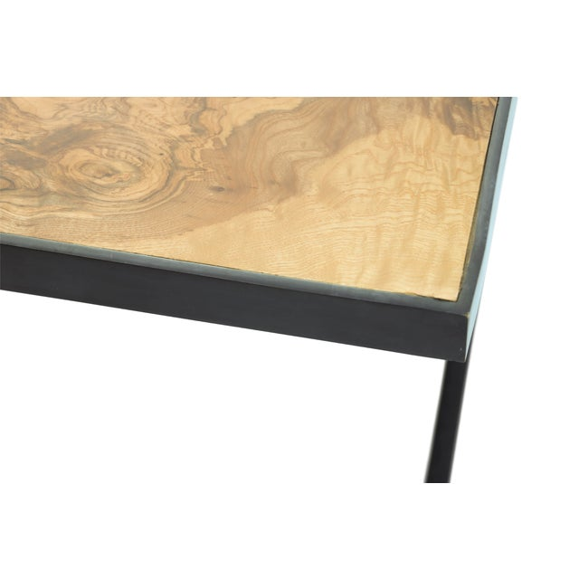 Mid Century Style Theodore Alexander Burl Coffee Table Chairish