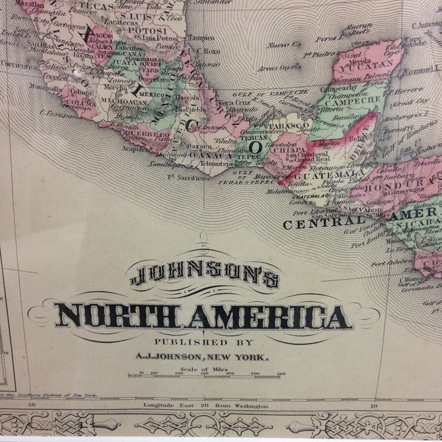 Antique Map of North America (1867) - Image 4 of 8