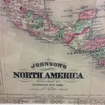 Image of Antique Map of North America (1867)