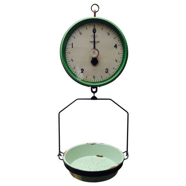 Amazing Vintage Chatillon Green Hanging Scale - Image 1 of 5