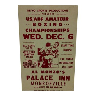 US/ABF Amateur Boxing Championships Boxing Poster