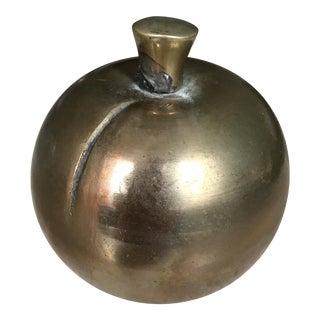 Brass Apple Paperweight
