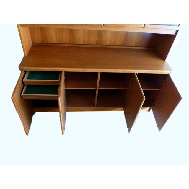 Solid Teak Buffet & Lighted Hutch - Image 3 of 5