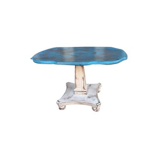 Turquoise & Ivory French-Style SideTable