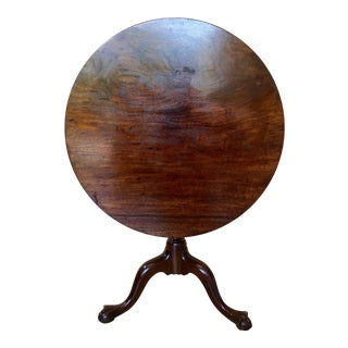 18th Century Chippendale Mahogany Tilt-Top Table