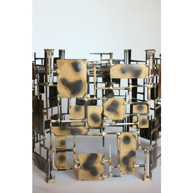 Image of Marc Creates Vintage Brutalist Metal Coffee Table