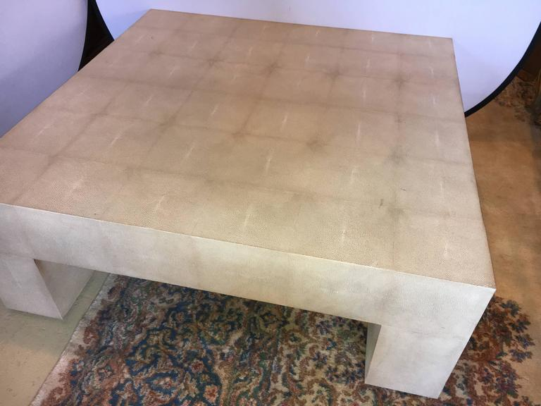 High Quality Palatial Karl Springer Style Linen Wrapped Coffee Table   Image 2 Of 7