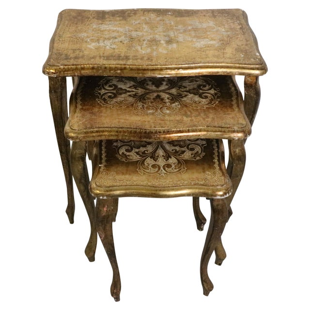 Italian Florentine Nesting Tables – Set of 3 - Image 1 of 7