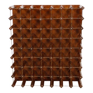 Mid-Century Modern 56 Bottle Wine Rack