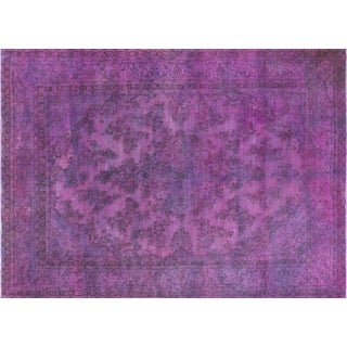 """Hand Knotted Purple Overdyed Oriental Rug - 10' 3"""" X 13' 10"""""""