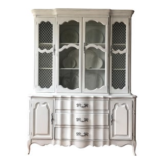 Vintage French Provincial China Cabinet