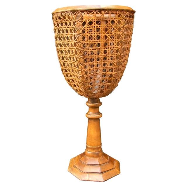 Vintage Italian Pedestal Hand Caned Flower Urn - Image 1 of 10
