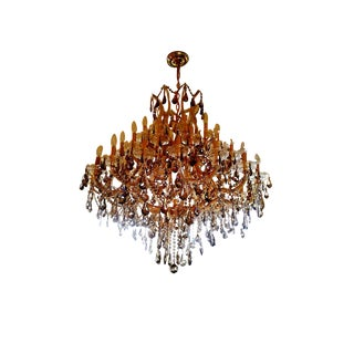 Large Amber Crystal Chandelier