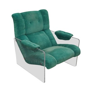 Mid-Century Lucite Frame Floating Lounge Chair