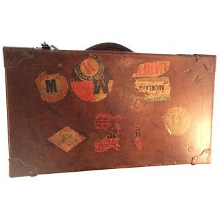 Antique Suitcase Bullock Hide Worldwide Traveler