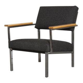 Spectrum Lounge Chair in Charcoal and Chrome