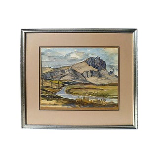 Original Watercolor and Ink of Skye, Scotland