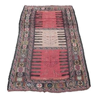 Turkish Kilim Vintage Rug- 3′1″ × 5′10″