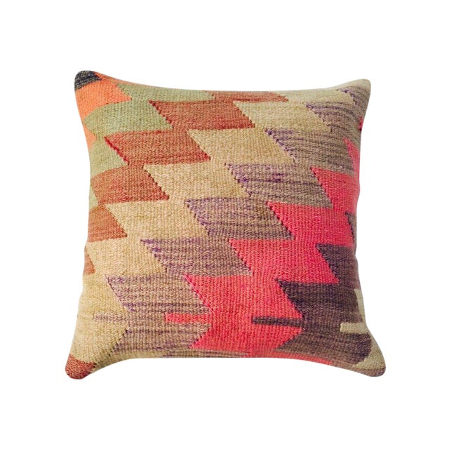 Vintage Turkish Kilim Pillow - Image 1 of 6