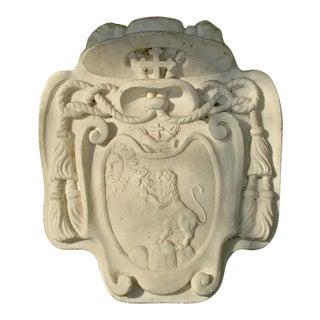 18th Century Marble Heraldic Cartouche