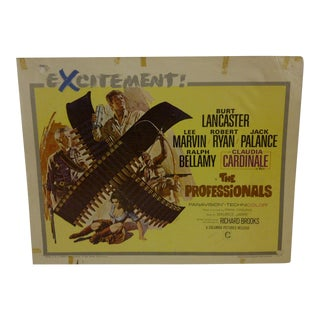 """Vintage """"The Professionals"""" 1966 Movie Poster"""
